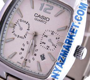 فروش ساعت کاسیو مردانه   خرید ساعت مچی کاسیو مربعی مدل casio mtp 306