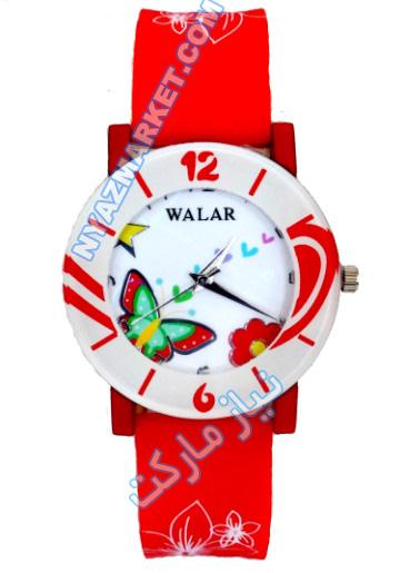 خرید ساعت مچی فانتزی دخترانه رنگی طرح گل پروانه   ساعت ژله ای