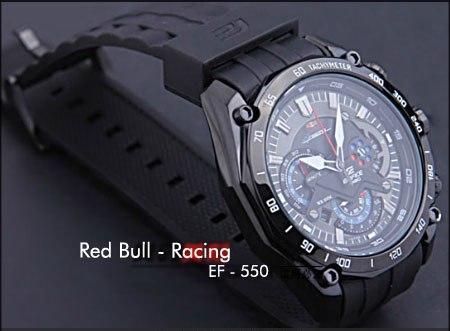 ساعت کاسیو ردبول بدنه تیتانیوم CASIO EF 550 Red Bull   خرید پستی کاسیو طرح سه موتوره