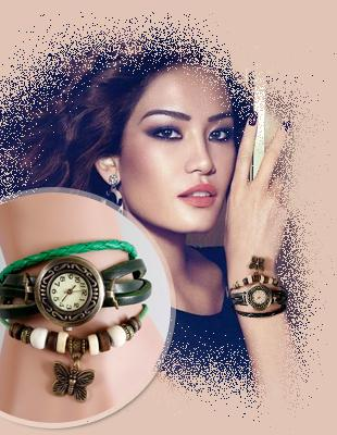 ساعت الیزابت خرید ساعت مچی بندبلندچرمی دخترانه زنانه قیمت ارزان