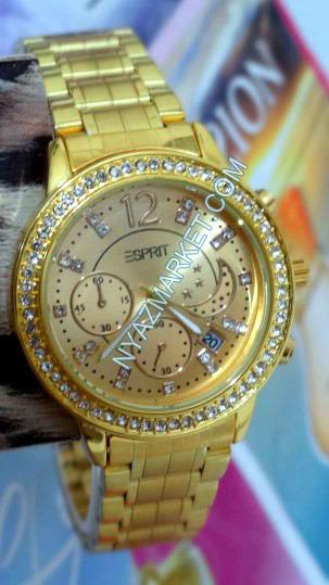 خرید ساعت زنانه اسپریت  طلایی