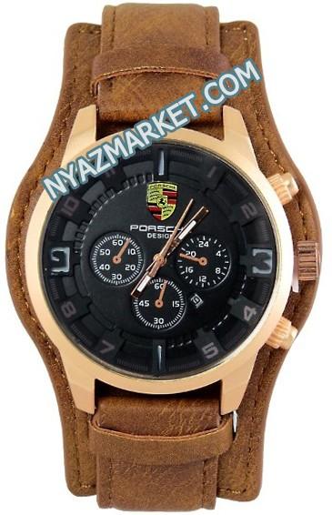ساعت های کپی پورشه دیزاین رنگ قهوه ای
